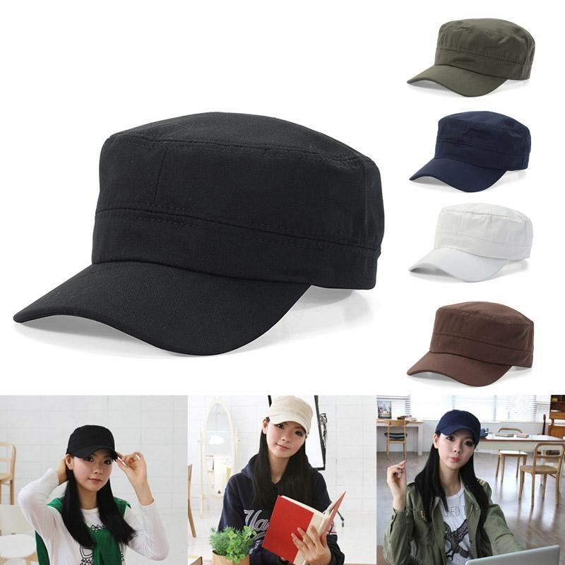 Chapeau Hommes Femmes Chapeau Ombrelle Flat Top Respirant protection solaire extérieure Casual Cap Mode Cap Solide Couleur
