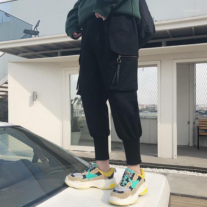 Pantaloni da uomo di pantaloni da uomo casual-lunghezza castana da uomo coreano pantaloni da uomo joggers pantaloni hip hop streetwear1