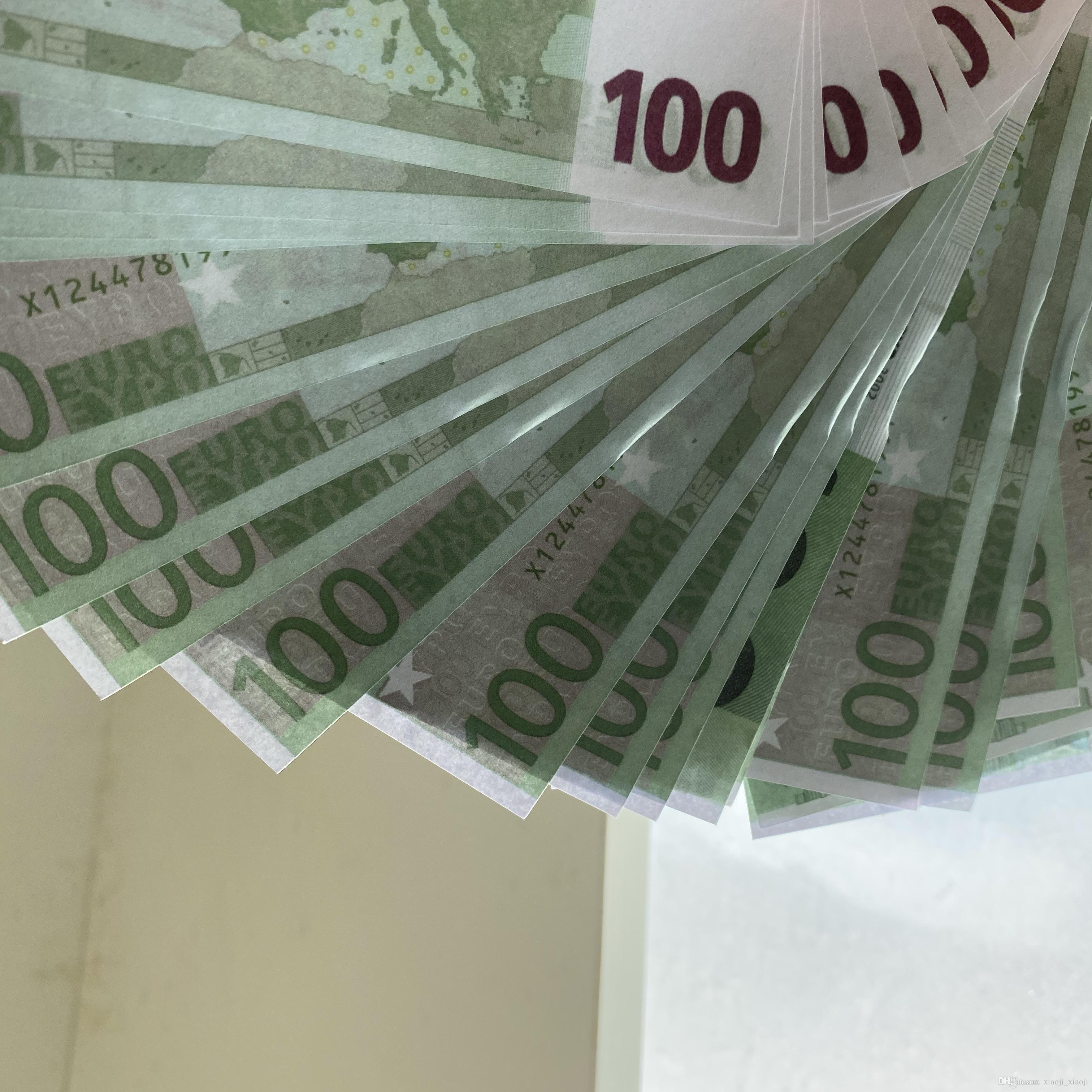 Kids Spect Copy Banknote Семейные деньги Реалистичные US / Евро / Доллар 100 шт. / Пакет Toy243 Большая бумажная игра или WJACW