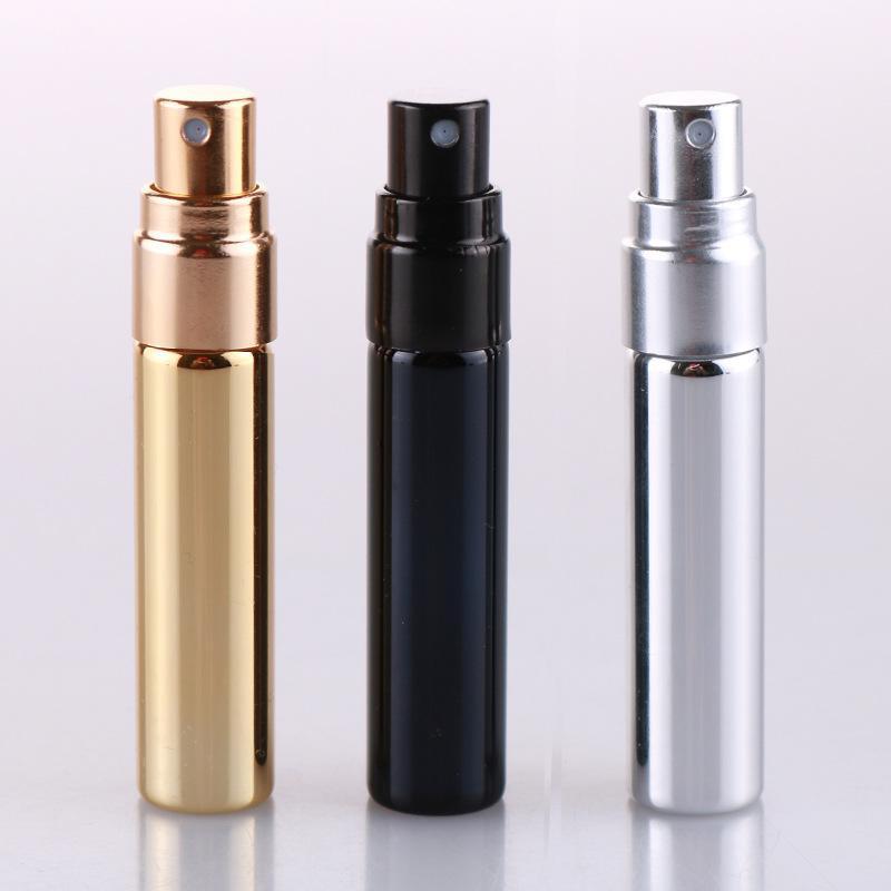 5ML Portable Spray Bottle Glass Bottles lid Transparent Glass Spray Bottle Empty essencial oil Perfume Bottle Packing Bottles