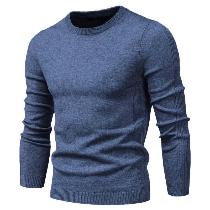 2020 New O-Cowl Pullover Maglione maschile Casual Colore Solido Uomini Caldi Moda Inverno Moda Slim Uomo Maglioni 11 colori