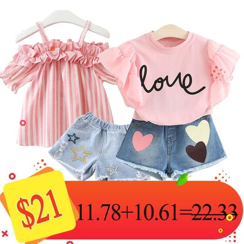 Humour Ours Combinaison Vêtements pour enfants Ensemble vêtements pour enfants layette 2020 Marque Filles Vêtements Ensembles X0923