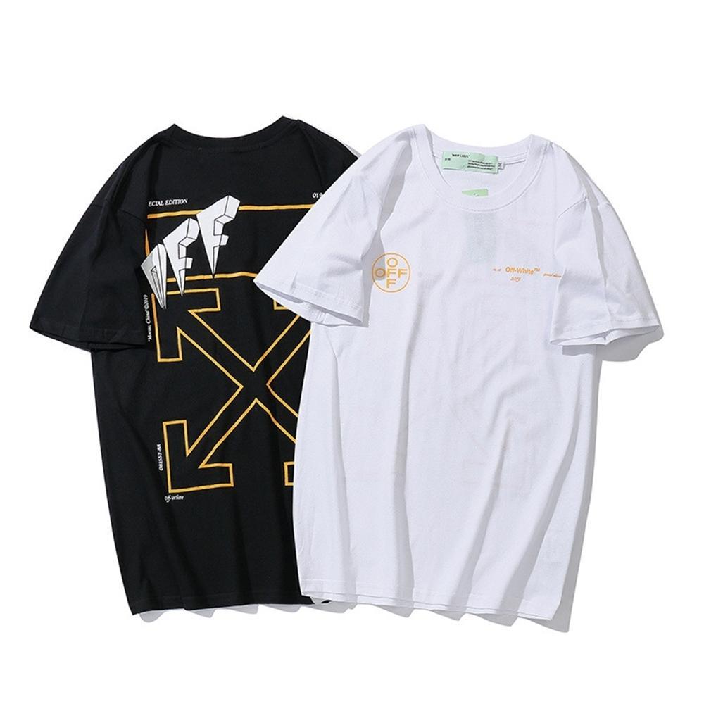Estate marchio di moda ow personalità della moda freccia T-shirt per gli uomini e le donne fuori trend di breve sleeveEC6M
