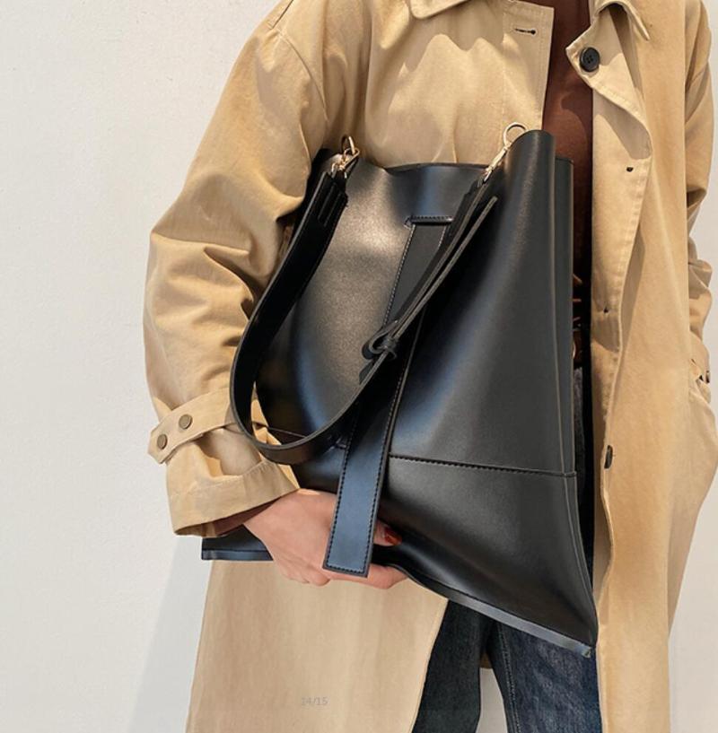 Сумки на ремне Повседневная большая сумка для ведра 2021 Мода Качество ПУ кожаная женская дизайнерская сумка большой емкости Messenger