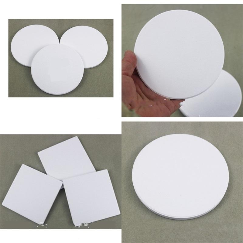Beyaz Kupa Mat Seramik Coasters Sublime Blank Dairesel Elips Kare Birçok Styles Dayanıklı Çevre Dostu 1 2tt F2