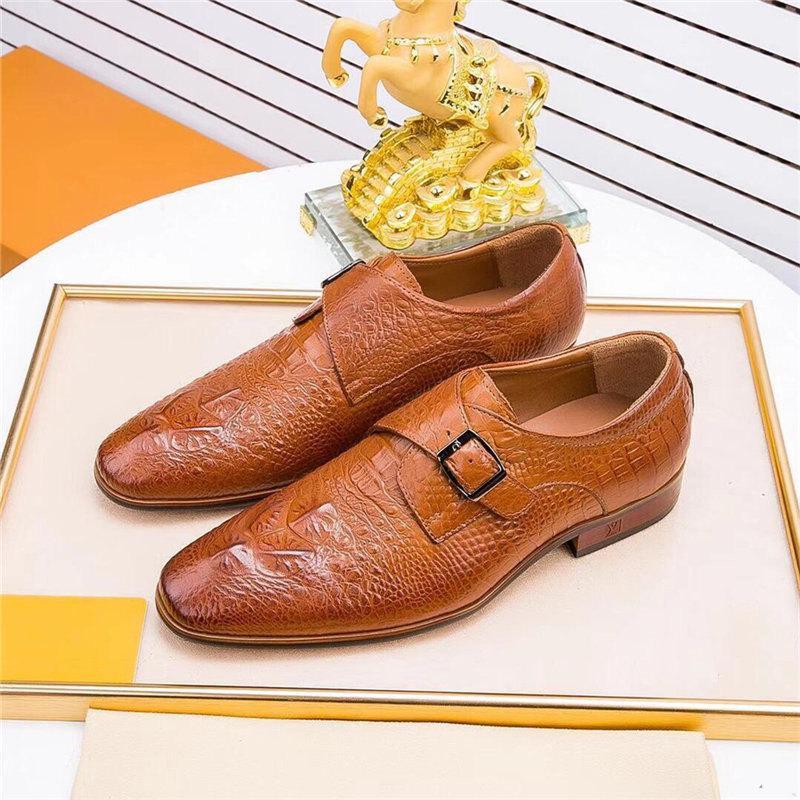 Black Designer Mens Dress Shoe Tacchi alti Social Celebrity Scarpe da sposa Mens Formale Cowboy Club Party Scarpe uomo Oxfords Scarpe per il lavoro