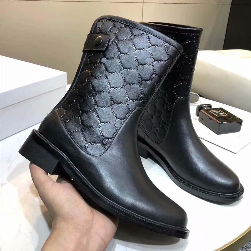 Mode féminine Zip Border Cuissardes santiag anti-dérapant bottes pour femmes en cuir sauvage occasionnels viennent avec la boîte Taille 35 à 41 GU270 01