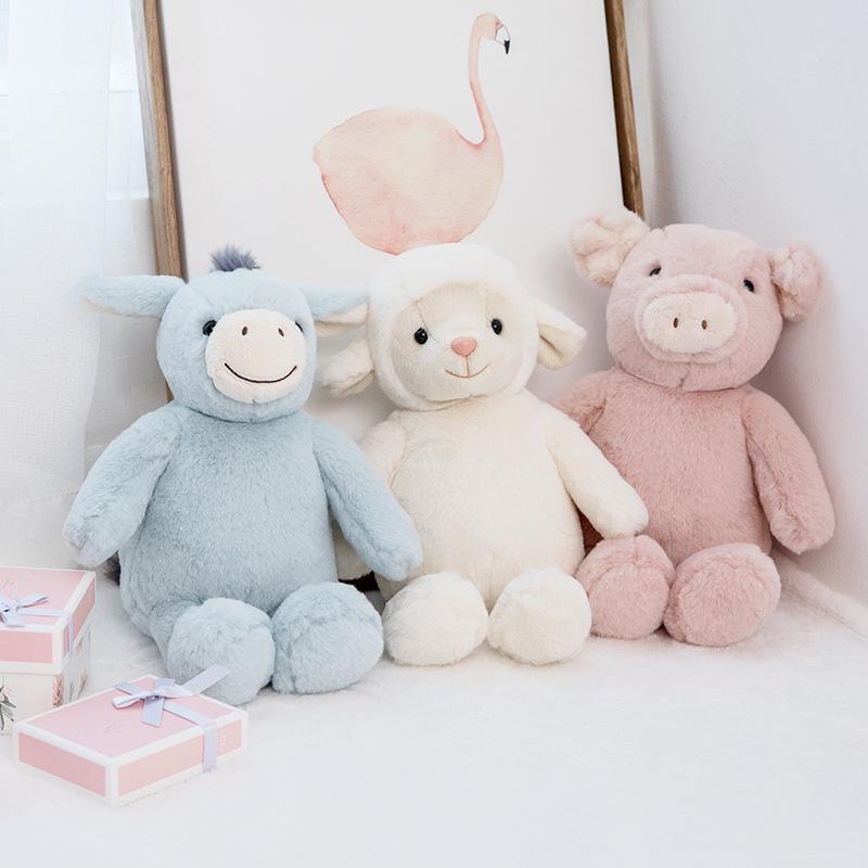 1pc 23cm 귀여운 양 봉제 장난감 소프트 만화 동물 양고기 박제 인형 Llama 장난감 아기 베개 어린 소녀 생일 선물
