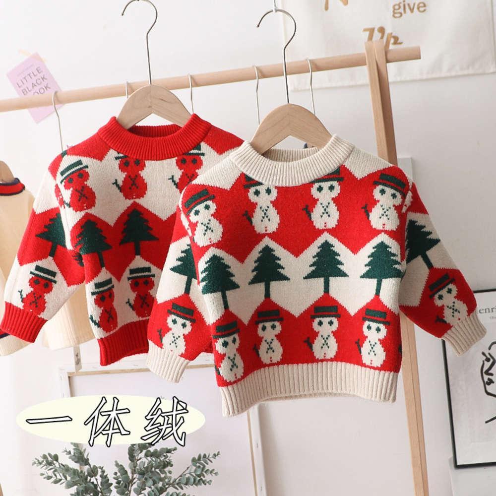 Los 2020 invierno en un nuevo suéter de cachemira, chicos y niñas, christmas, muñeco de nieve, pantalones para niños.