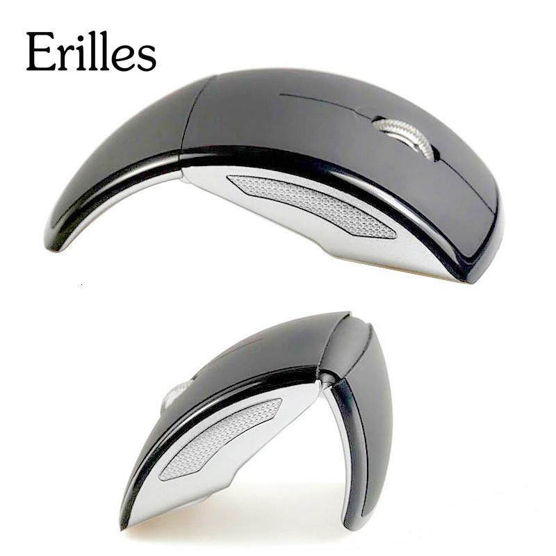 Erilles 2,4G Falten Faltender drahtloser optischer Maus Schnurlose professionelle flexible USB-Dongle-Mäuse für Laptop-Desktop-Computer