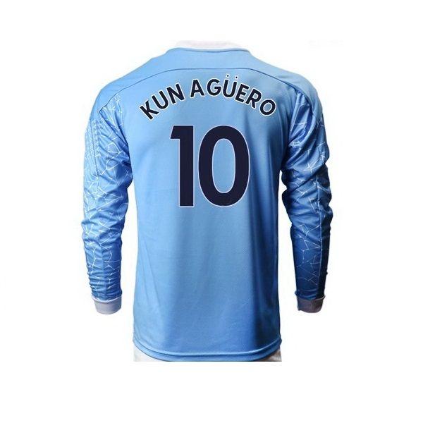 長袖20-21カスタマイズされた男性9 G.Jesus KunAgüero10 de Bruyne 17 Rodrigo 16 7スターリングタイの品質スポーツジャージ、安いファン服2021ベスト