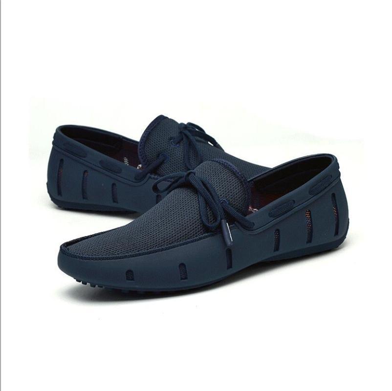 Прочные мужские кружева Loafer Плавает вскользь пляж дышащего вождение обуви для мужчин Пенни бездельников Mesh Удобной обуви