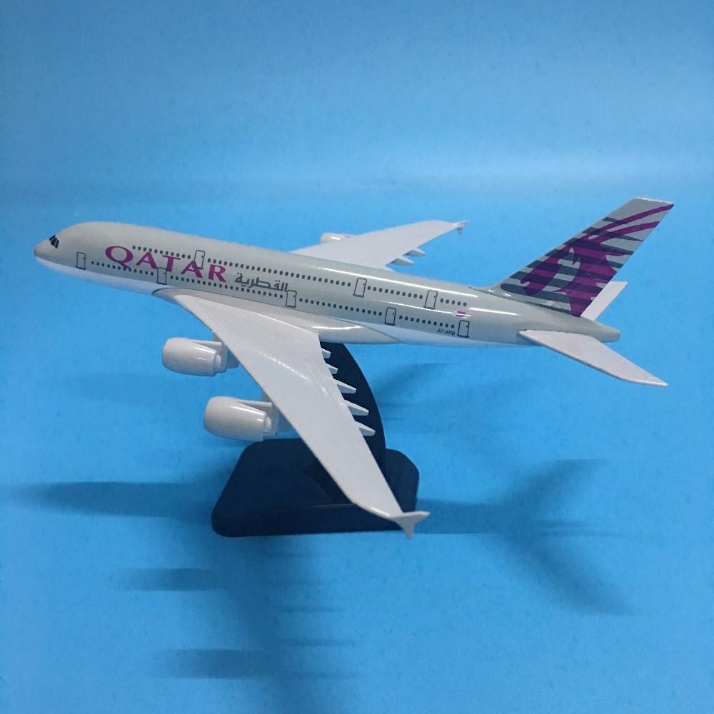 Джейсоном Туту 20-сантиметрового Самолет QATAR Airbus A380 Самолет Модель 1: 200 Diecast металла Самолеты Самолет игрушка в подарок