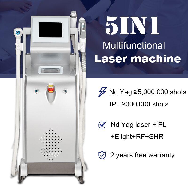 ND YAG 레이저 문신 제거 IPL OPT SHR 빠른 헤어 리무버 EKIGHT 피부 회춘 정맥 감소 RF LLLT 장비