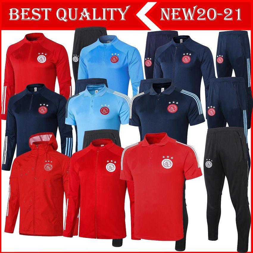 S-XXL 2020 2021 Ajax FC Soccer Jersey adulto agasalho 20 terno 21 Ajax Formação ZIYECH TADIC maillot de Futebol shirt homens rastrear terno