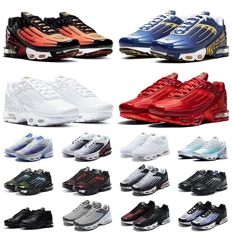 nike air max airmax plus tn 3 tuned Mejor calidad 2021 TODOS los zapatos para correr rojos carmesí blancos Obsidian Black Laser Blue para hombre para mujer Zapatillas deportivas