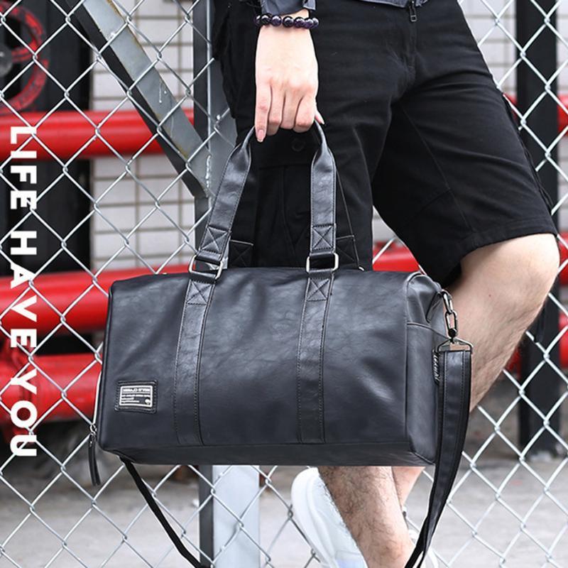 Viajes cortos largos Mano bolsa de equipaje Ocio bolsas de viaje de alta calidad Hombres de alta calidad Mujeres Crossbody Bolsos de hombro Viaje Bolsa de lona Bolsos