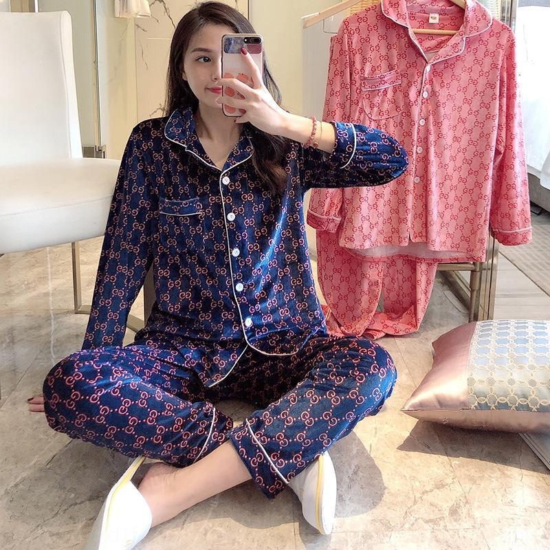 VvTH jJgi8 SPlVv Les vêtements de la maison shake large pantalon de pyjama wi Chrysanthème célébrité Internet casual nouvelle women039, la mode costume de vêtements à domicile sh