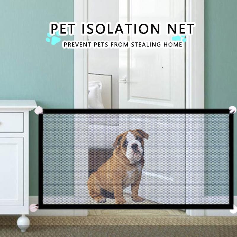 180x72cm Pet Dog Cerca Portão Seguro Guarda Gabinete De Segurança Cadeiras De Cão Gate O Indenious Malha Pet Dobra Fontes