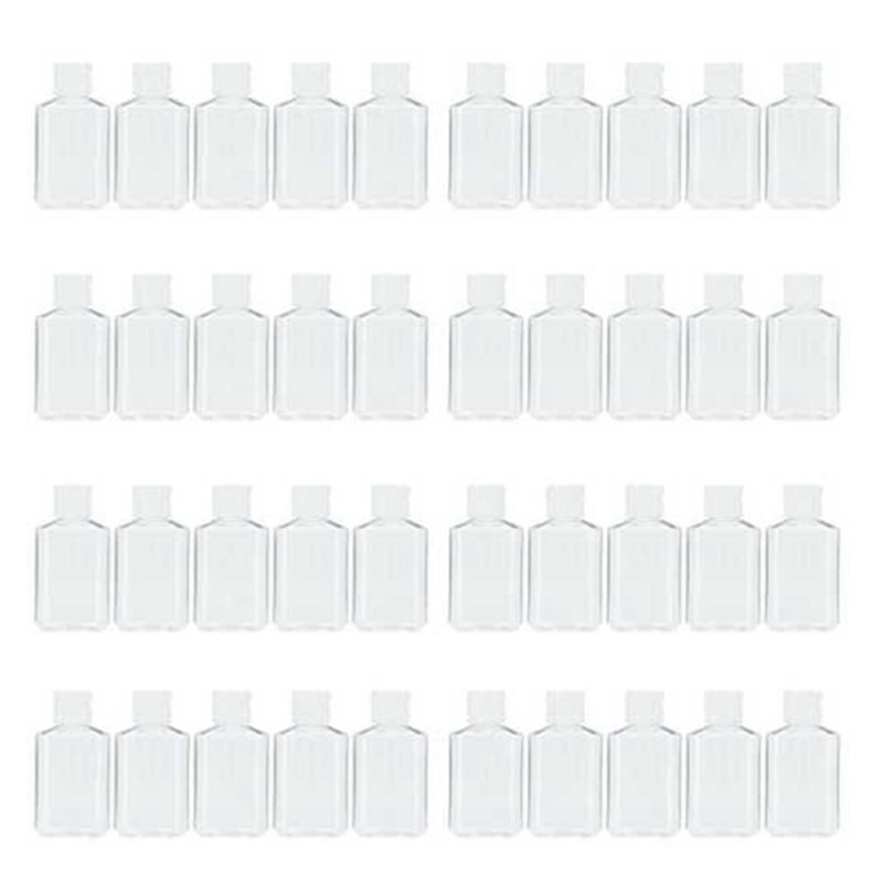 40 шт. 2 OZ 60 мл Прозрачный пополненный Flip Top Pet Plast Plast Contaver