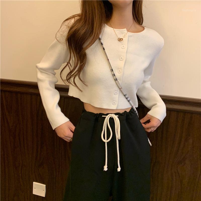 Женская футболка белая трикотажная ткань сплошной цветной базовой рубашки женщины с длинным рукавом нижнее белье Slim Fit Thin Thin 2021 летние универсальные топы1
