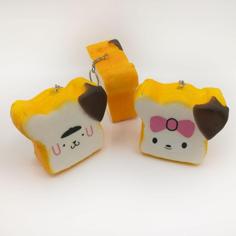 Kawaii Profumo Arancione Squishy Pane Lento Aumento del pane Simulazione simulazione Squeeze Vent Pane Squishies Giocattoli per bambini