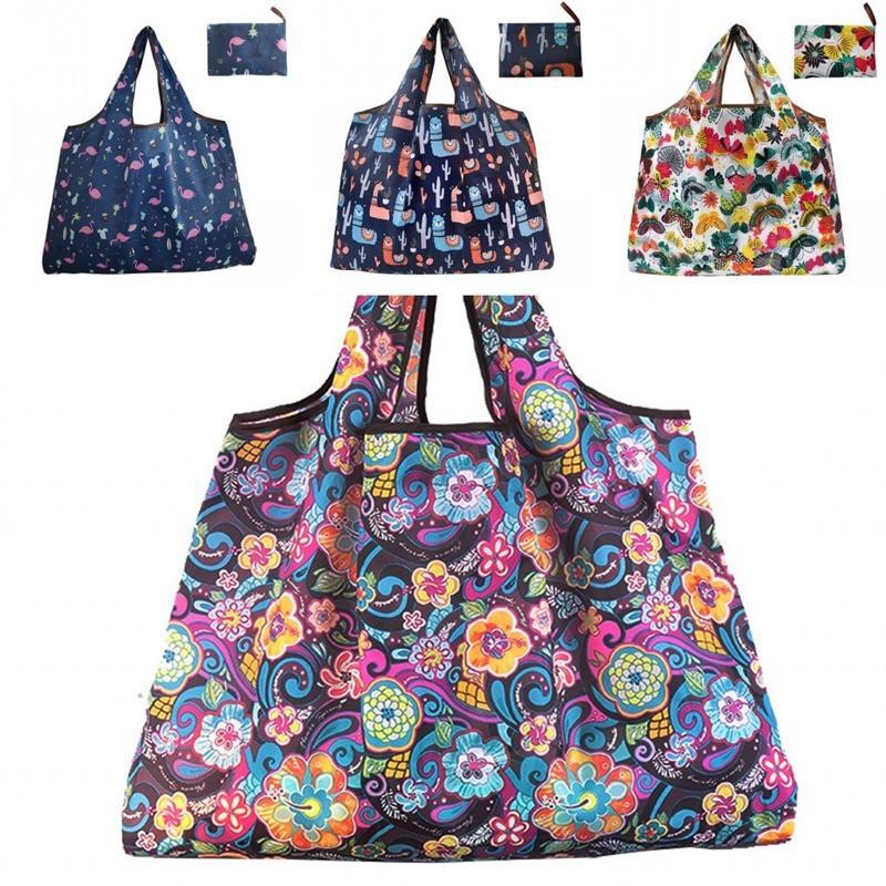 Стуска хранилища сумка Кактус печатный пакет портативный складной карманный моющийся водонепроницаемый домашний кухня многоцветный креативный 5GL L2