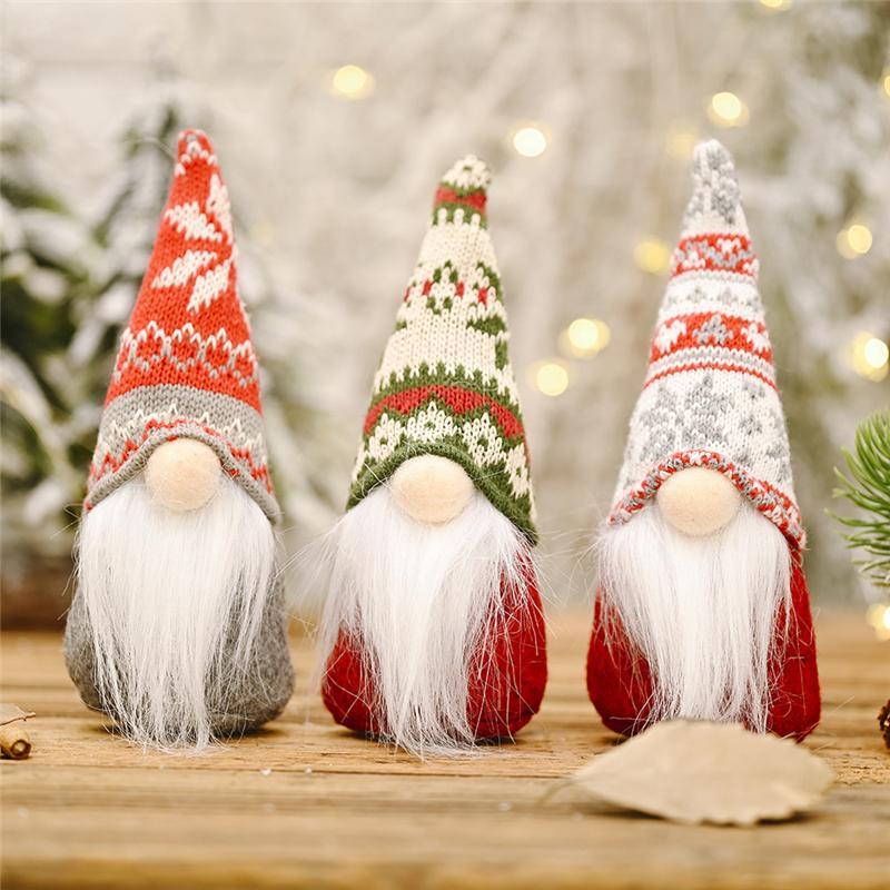 Рождество плюшевого Gnome Сант ручного скандинавская шведская НИССА Elf игрушка Праздник Present зима Таблица украшение JK2011PH