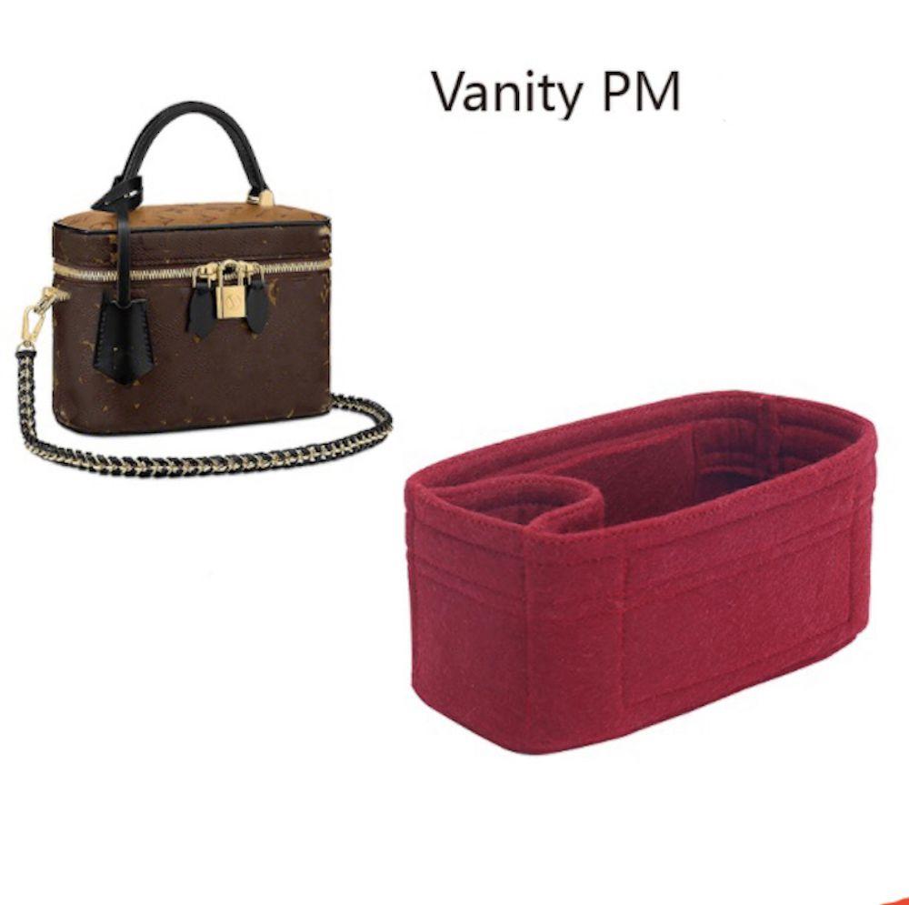 Pour Vanity PM Bag Insertion Organisateur Porte-monnaie, Sac Shaper-3mm Premium Feutre Premium (Handmade / 20 Couleurs) 201113