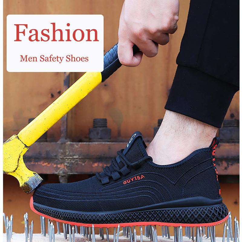 Safty Shoes Мужские рабочие ботинки легкие дышащие мягкие стальные ноги антиромки на открытом воздухе заводские повседневные охранные туфли женщины LJ200918