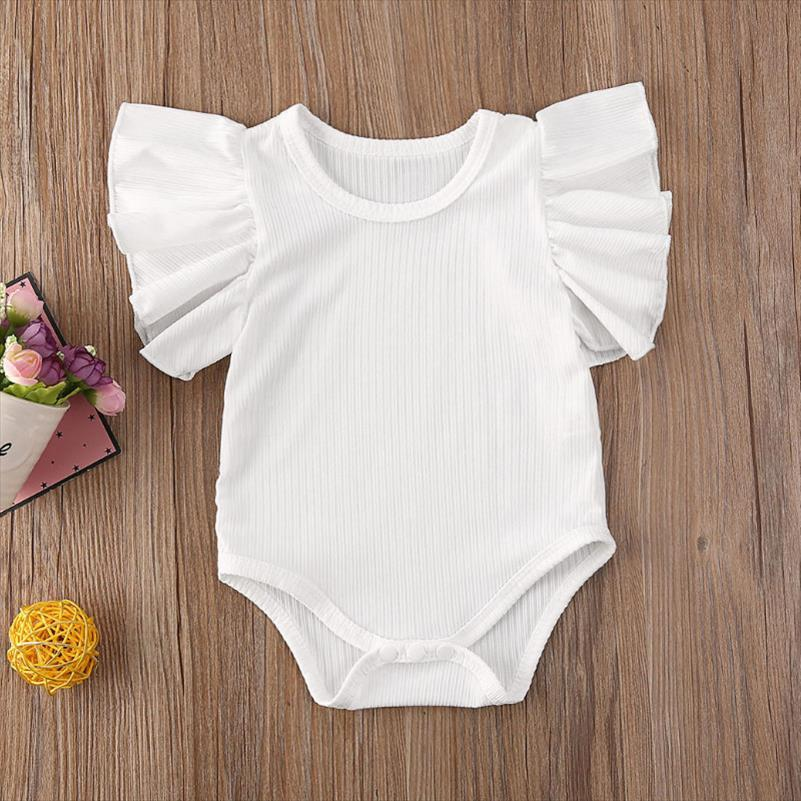 Newborn Infant Baby Girl Short Sleeve Cotton Romper Jumpsuit Bodysuit Clothes Set Sunsuit Summer Drop Shipping