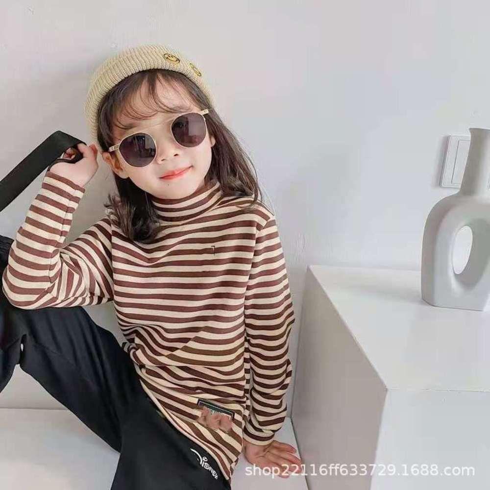 Осень зима детская одежда пакет два B2-0013 Striped Warp Di мужская и женская половина с высоким воротником Ветровые свитера