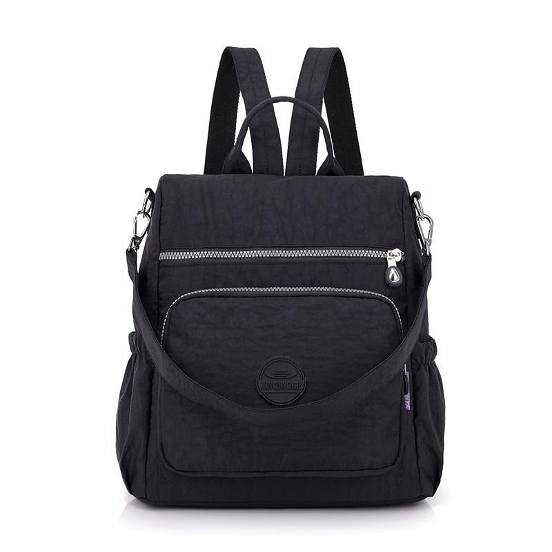 Fashion Women Waterproof Nylon Backpack Korean Style Designers Shoulder School Bag Leisure Rucksack For Girls Q1113