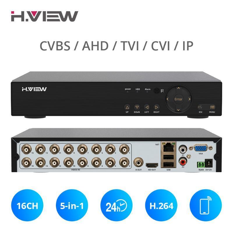 Наборы H.View 16CH NVR видеоизобразок рекордер видеонаблюдения CCTV DVR для поддержки домашней безопасности 4TB SATA HDD 1080P Выход H.264