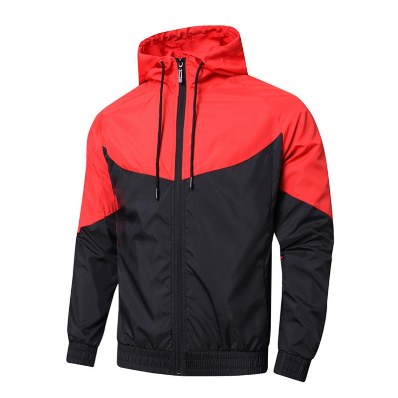 Primavera Jacket Homens Mulheres Brasão camisola Mens Hoodie Roupa Asiático Tamanho Hoodies manga comprida Outono Sports Zipper Windbreaker
