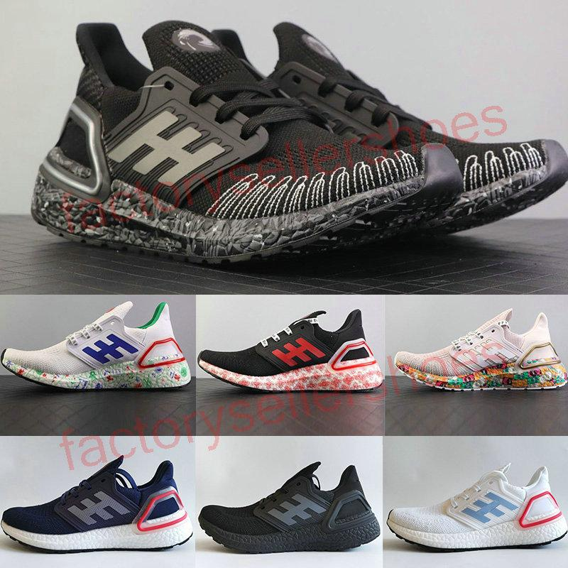 2020 Top Quality Ultra Boosts 6.0 Men Women Running Shoes Ultra Boost 6.0 Primeknit Runs White Black Sports Sneaker 36-45