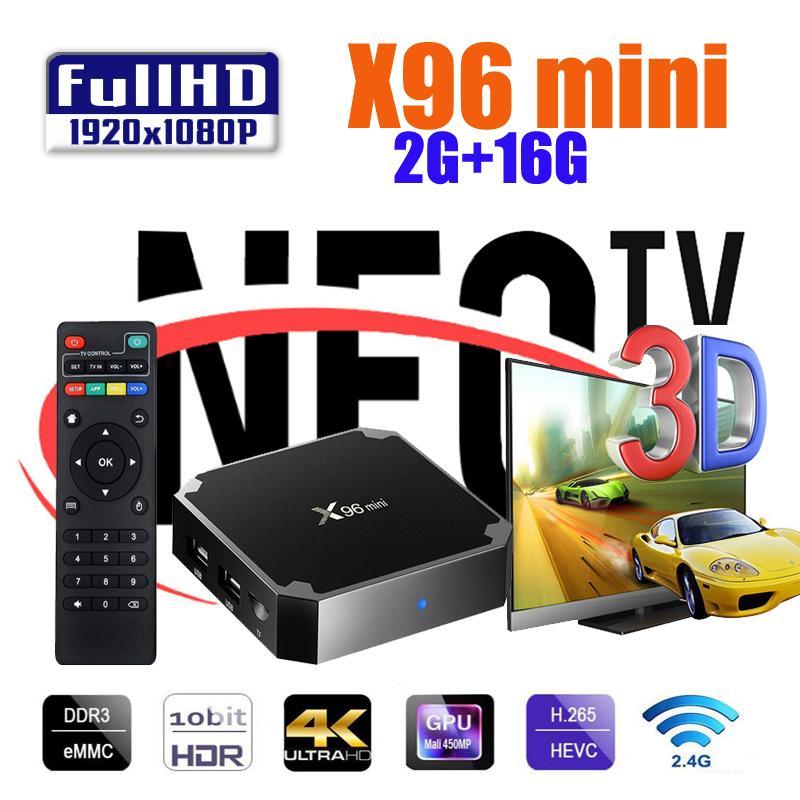 X96min 1/8 Go avec NEOTV PRO 1Year Smart TV Watch téléphone pour enfants pour l'arabe France UK Europe
