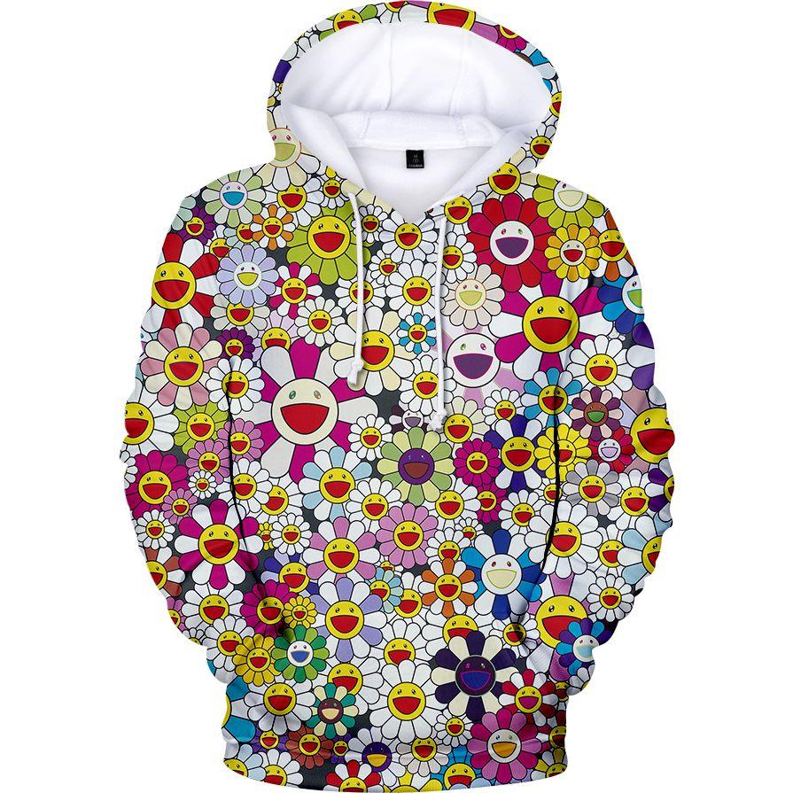 2020 подсолнечника толстовки J Balvin 3D толстовки мужчин / женские пуловеры Harajuku популярный модный капюшон мультфильм повседневная одежда