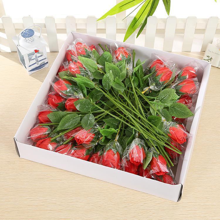 Подарочная упаковка Большая одиночная бутылка Розовое мыло Цветок Валентина День Святого Валентина Национальная праздничная активность Небольшие подарки