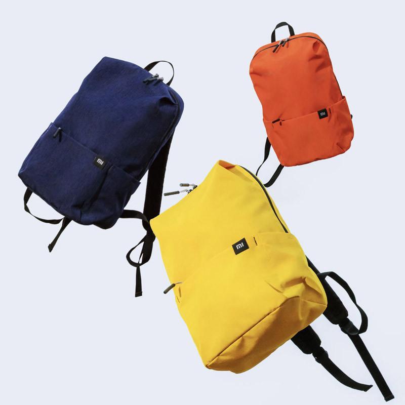 Original Xiaomi Mi pequena mochila 10L / 15L / 20L impermeável colorido diário lazer urbano Homens Mulheres Sports Travel Bag shcool Bag Bagpack
