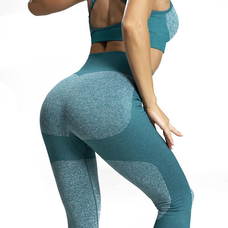 Pantaloni da yoga Donna Senza soluzione di continuità Pantaloni fitness yoga Esercizio fisico a vita alta Pantaloni in vita