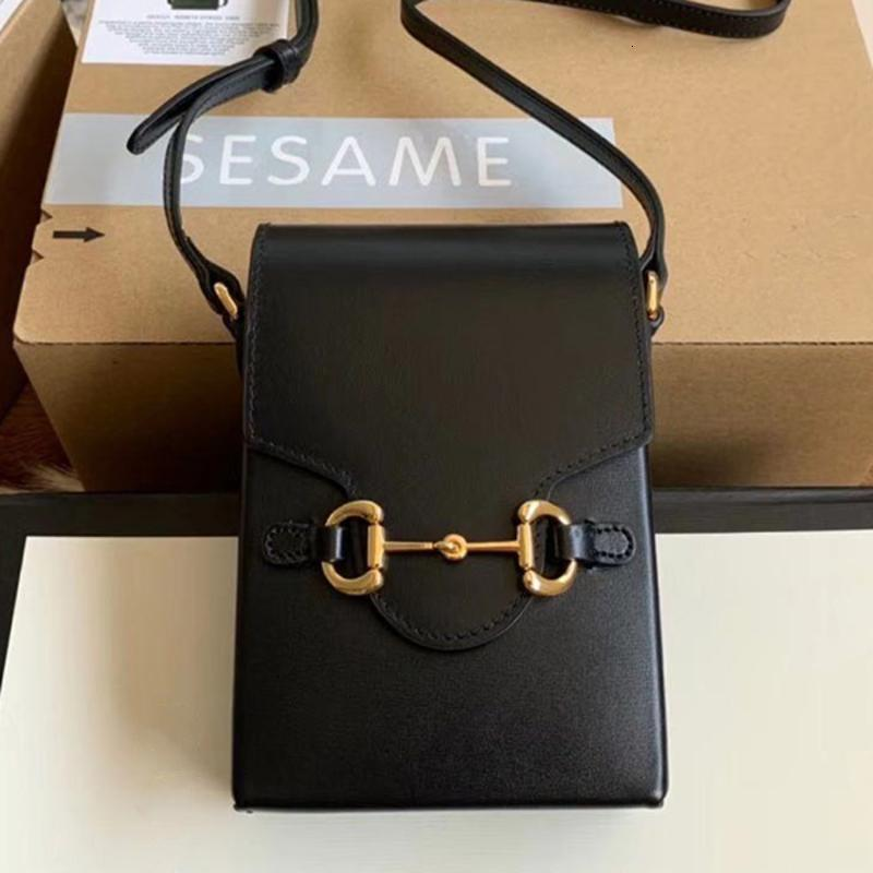 Top Horsebit Bag Crossbody Luxuurys Deasignes Bolso Teléfono Cartera Bolsas de calidad Mujeres Completa Mini 1955 Estilo 17cm Moda Oaiwb