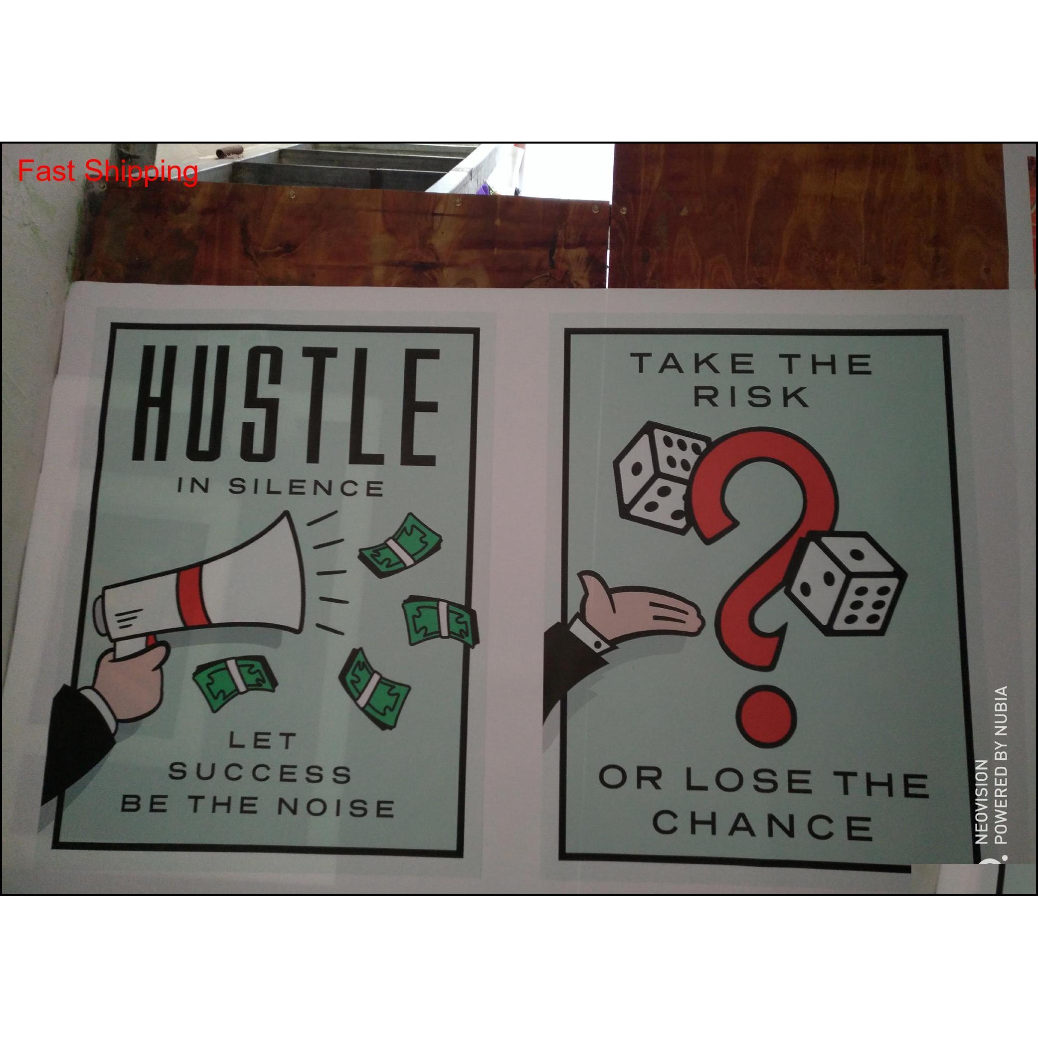 """Sin marco / Monopolio de Alec """"Hustle in Silence"""", HD Lienzo Imprimir Decoración para el hogar Arte de la pared pintura, Qyljri Homes2011"""