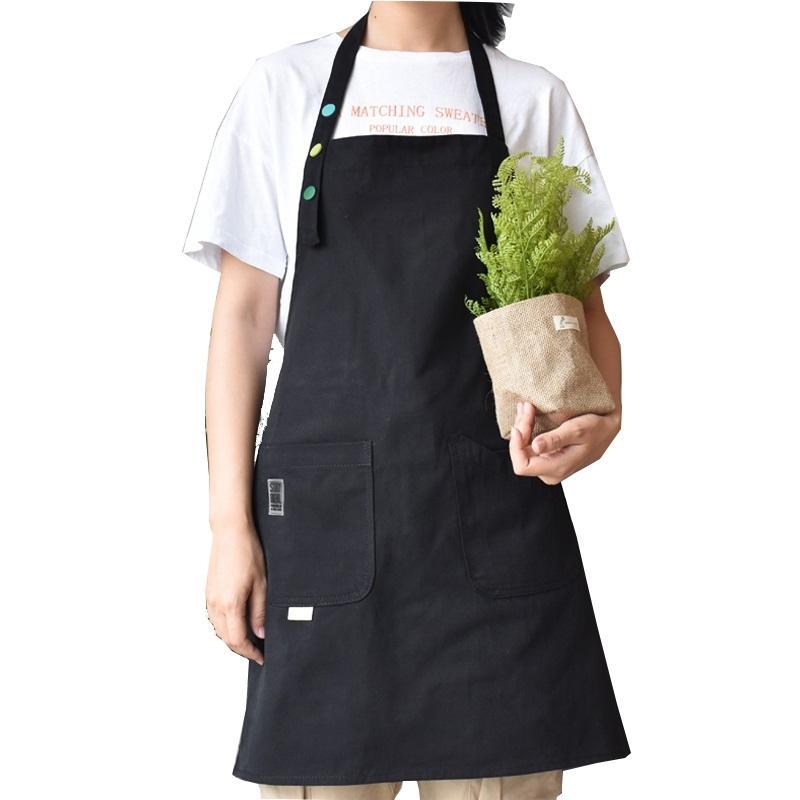 Nouveau Tablier 100% Tablier de coton et coiffure Tablier de travail sans manches Tablier de cuisine Cuisine Cuisine Tabliers pour femme Chef Cuisson Tabliers 201007