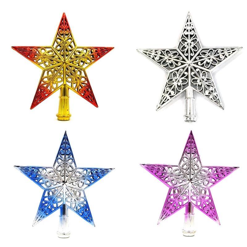 Decoración del árbol de Navidad Top chispa Estrellas Cuelgue ornamento copa de árbol de Navidad Topper Material del árbol de navidad de la decoración envío libre de DHL OWE2270