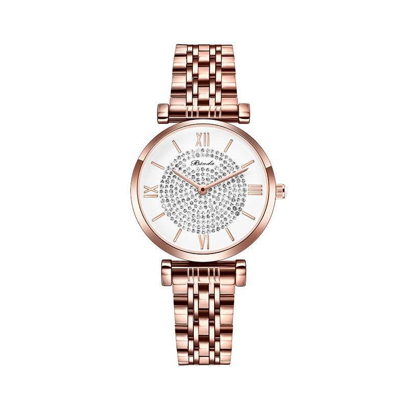 Hombre de lujo al por mayor Wholesale Mujer gratis Reloj de acero inoxidable Hombre de alto grado 2021 Reloj de pulsera Nuevo Diamante Relojes y diseñador de moda RLKW