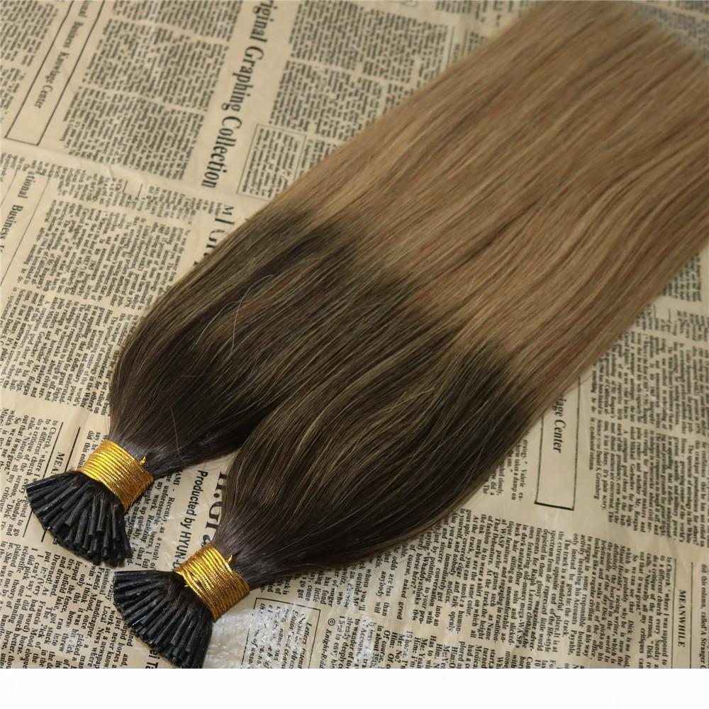 Balayage Hair Hair I Punta Extensiones Omber # 2 Fadding to # 12 I