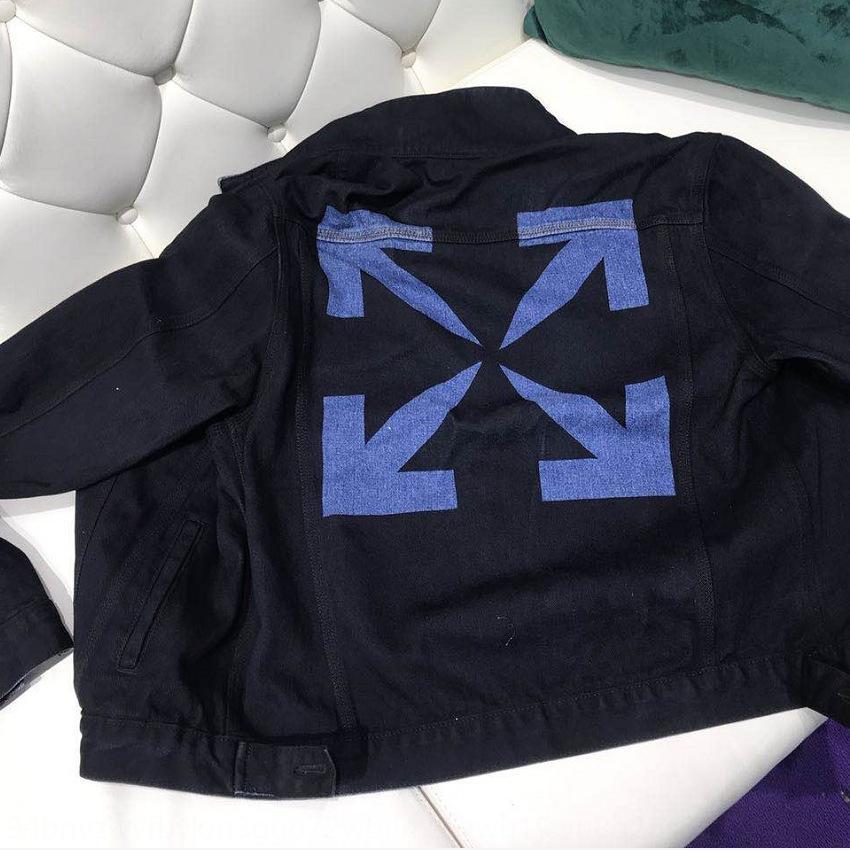 Dizi Outerwear 새로운 자켓 패션 슬림 피트 데님 재킷 싱글 브레스트 오토바이 코트 자켓 망 청바지 코트 턴 다운 칼라 2018 남자