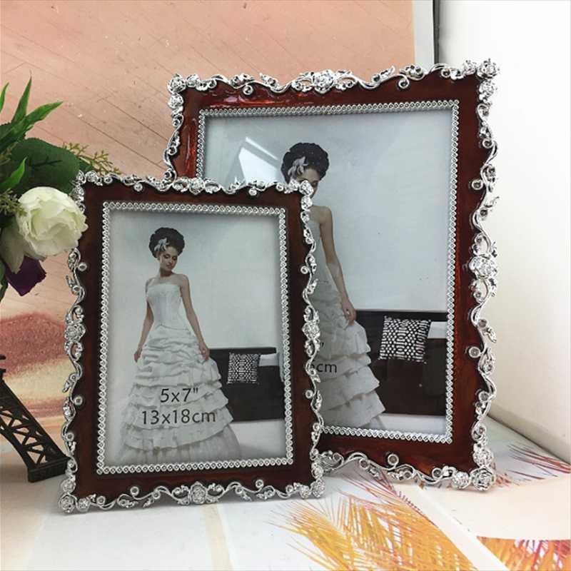 Artista Estilo europeo creativo 6 pulgadas Marco de fotos de boda de 7 pulgadas 10 resina fijada marco de fotos de estilo europeo