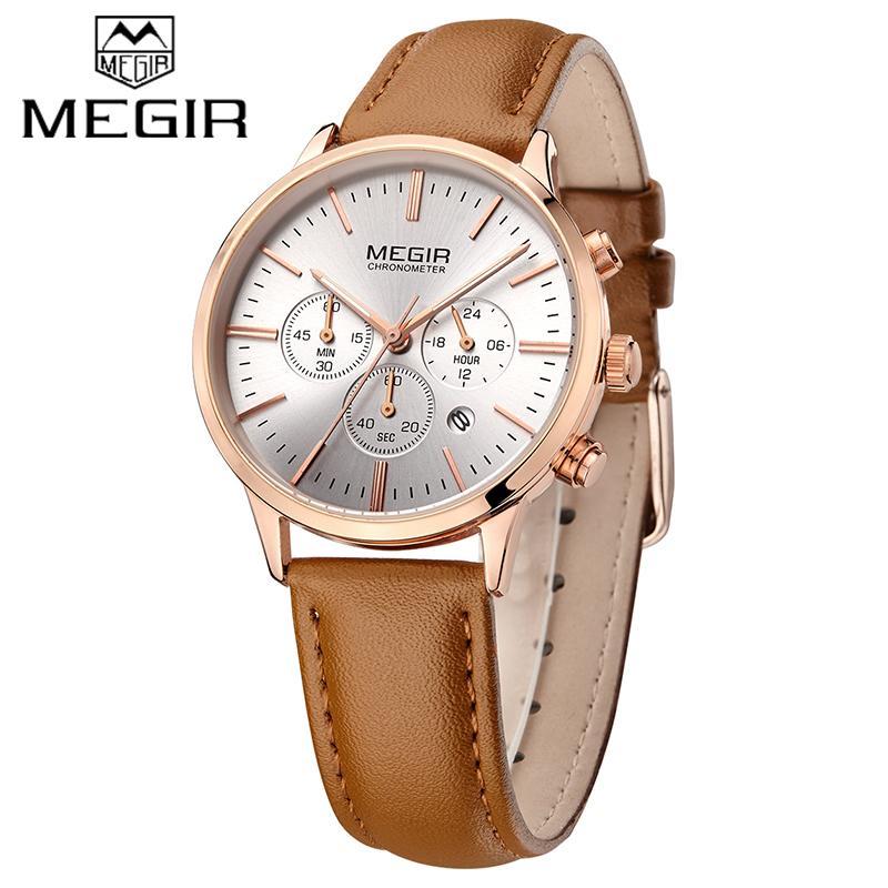 New MEGIR Top Brand Quartz Watches Women Fashion Sport Watch Ladies Lovers Clock Relogio Feminino for Female Wristwatches 2011Q0108